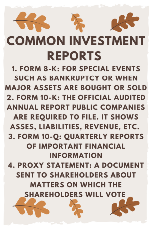 investment rports